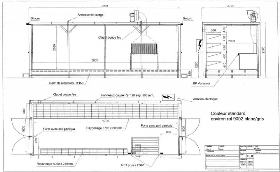 laboratoire et locaux de stockage et de pr paration peinture par walusa ing nierie. Black Bedroom Furniture Sets. Home Design Ideas